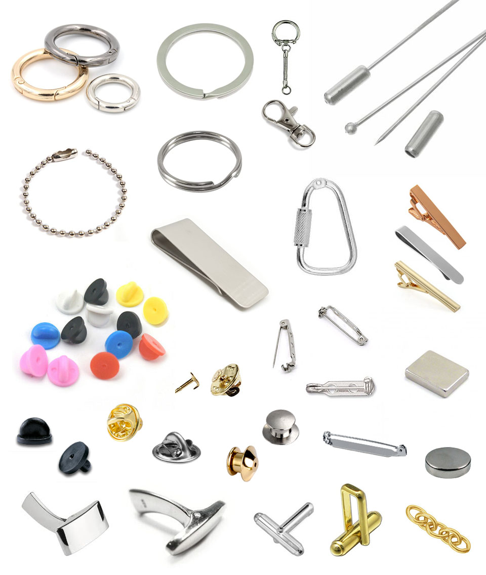 Logo jewellery fixings and fastenings