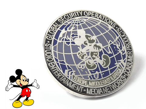 Walt Disney enamel badges