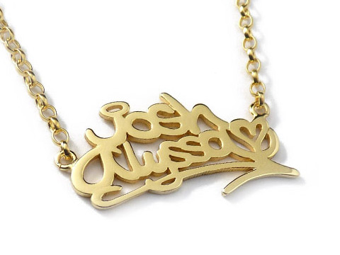 gold personal necklace