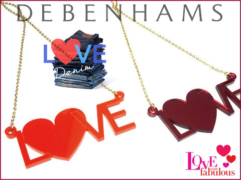 Love name necklaces made for debenhams in store promotion