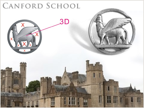 3D die cast quality lapel pin badges with brushed antique silver finish
