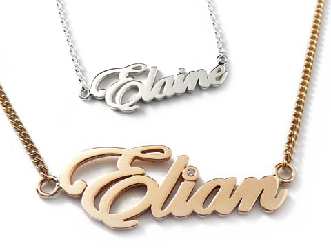 luxury personalised necklaces handmade to the best quality