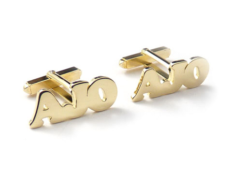 gold cufflinks as personalised gifts
