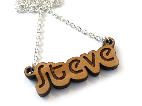cheap personalised wooden name tags and gift ideas
