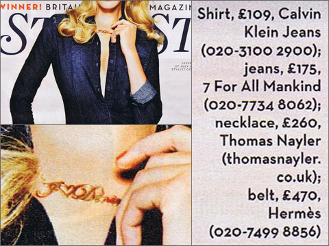 name necklace magazine feature