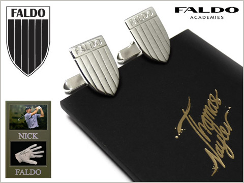 bespoke cufflinks handmade from silver for Nick Faldo