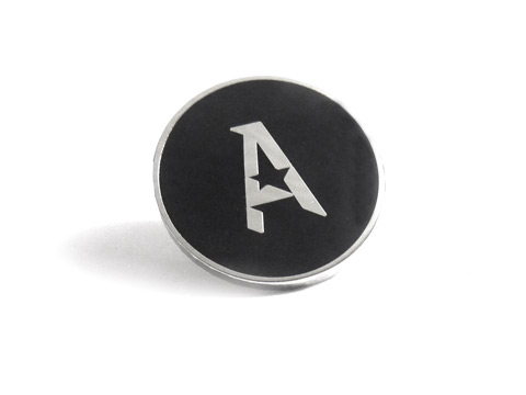 Simple bold enamel lapel badge
