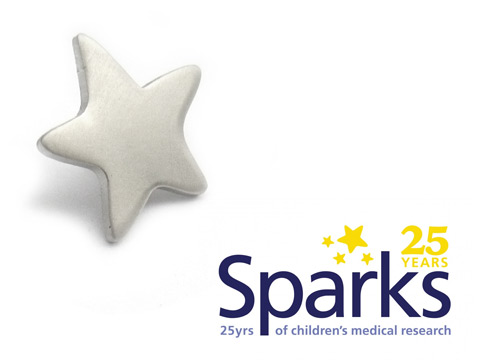Sparks charity badges.