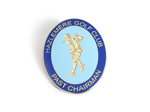 Bespoke enamel badges made golf club.
