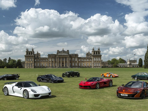 Sports cars at Salon prive